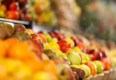 Close up of healthy fruits and beverages Stock Photo