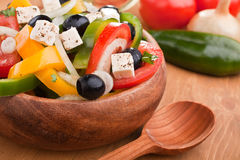Close up healthy greek salad Royalty Free Stock Image