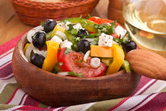 Close up healthy greek salad Stock Photos