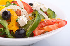 Close up healthy greek salad Royalty Free Stock Photo