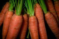 Raw carrots. Close-up of healthy raw carrots Stock Photo