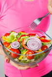 Close up of healthy salad Royalty Free Stock Photos