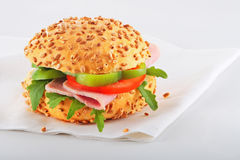 Close up of a healthy sandwich Royalty Free Stock Images