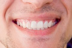 Close-up of smile healthy happy man Royalty Free Stock Image