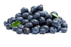 Close up of heap of bilberry Stock Photos