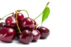 Close-up of heap of cherry stock image