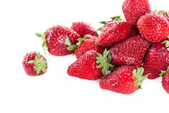 Close up of heap of fresh clean strawberries Stock Images