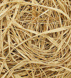 Close-up of heap of raffia or straw Royalty Free Stock Images