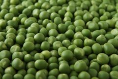 Close-up heap of raw peas stock images