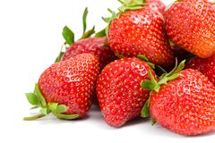 Close up of heap of strawberry royalty free stock photo
