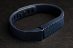 Close up of heart rate watch band Royalty Free Stock Image