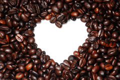 Close Up Heart Shape Coffee Bean Royalty Free Stock Image