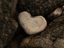 Close-up of a Heart-shape Rock stock images
