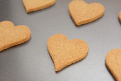 Close-up of heart-shaped biscuit for Valentine's Day Stock Photography