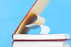 Close up on heart shaped book pages Stock Photos