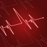 Close up heartbeat on screen Royalty Free Stock Photography