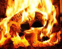 Close-up of hearth Royalty Free Stock Image