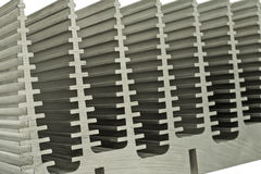 Close Up Of Heat Sink. Repeated abstract patterns of an electronic heat sink Stock Photography