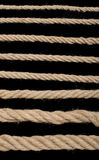 Close up hemp rope Stock Images