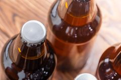 Free Close Up High Angle View Of Bottles Of Craft Beer Stock Images - 120179094