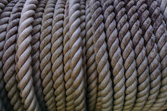 Close up high depth of rough rope texture use for industrial obj Royalty Free Stock Photos