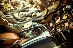 Close up of a high power motorcycle stock photography
