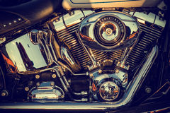 Close up of a high power motorcycle Royalty Free Stock Photo