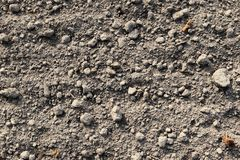 Close up high resolution surface of ground and acre. In northern germany royalty free stock photography