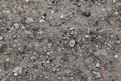 Close up high resolution surface of ground and gravel stock photography