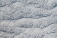 Close up high resolution surface of snow and ice in winter. Found in the very north of germany stock photography