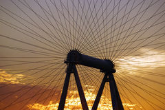 Close-up of The High Roller Wheel light up at dawn Royalty Free Stock Photos