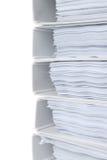 Close up high stack of folders Stock Photos