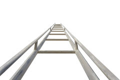 Close up high steel ladder isolated on white. Background Royalty Free Stock Photography
