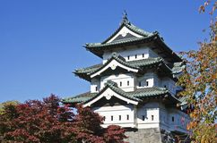 Close up in Hirosaki Castle. Stock Photo