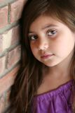 Close up of Hispanic little girl Royalty Free Stock Images