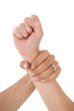 Close up of holding hand Royalty Free Stock Images