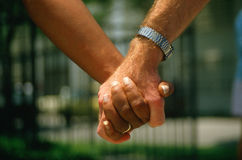 Close up of holding hands Stock Photos