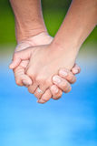Close-up Holding Hands Royalty Free Stock Image