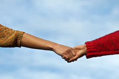 Close-up Holding Hands Stock Photography
