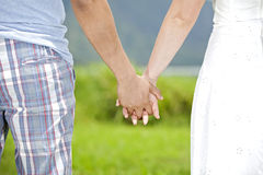 Close-up Holding Hands Royalty Free Stock Photos