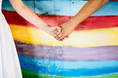 Close up Holding Hands Royalty Free Stock Images