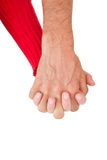 Close up of holding hands Stock Photography