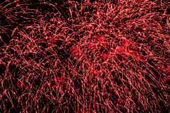 Close up holiday fireworks Royalty Free Stock Image