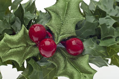 Close Up of Holiday Wreath Royalty Free Stock Photos