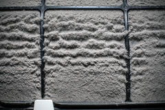 Close up home air conditioner filter with many dust Stock Photos