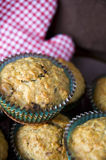 Close up banana muffin Stock Photography