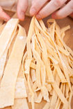 Close-up Homemade Fresh Pasta Royalty Free Stock Photo