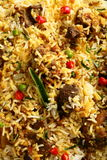 Close up-Homemade Indian  mutton dum biriyani Stock Photography
