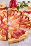 Peach cake. Close up on homemade peach cake Royalty Free Stock Photography