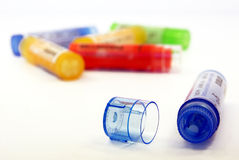 Close-up on homeopathy Royalty Free Stock Image